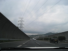 中国自動車道宝塚IC付近