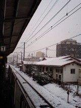 雪の東淀川駅