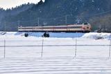 雪景色と381系