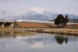 冬の伊吹山とN700A