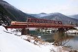 冬の大堰川と381系