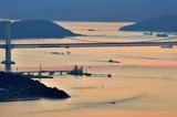 夕景の瀬戸大橋線