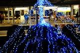 川西池田駅のライトアップ