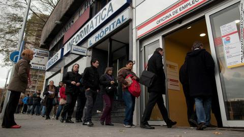 経済危機のスペイン失業