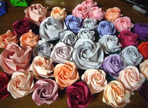 ハート 折り紙 : 折り紙 バラの花 : divulgando.net