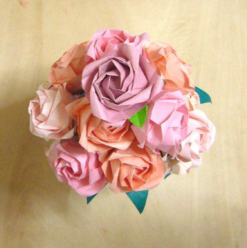 折り紙の:折り紙の花束-matome.naver.jp