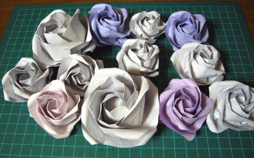 すべての折り紙 折り紙多角形作り方 : 紙ログ : 【折り紙】川崎ローズ ...