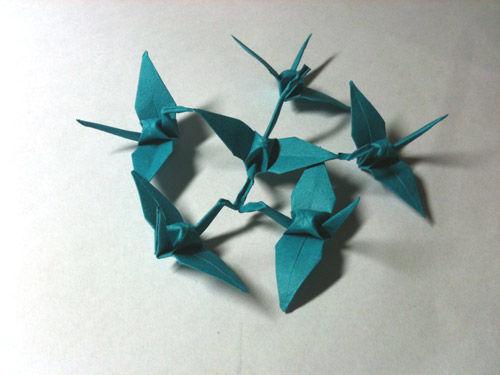すべての折り紙 あさがお 折り紙 : 折り紙】連鶴 - 蕣(あさがお ...