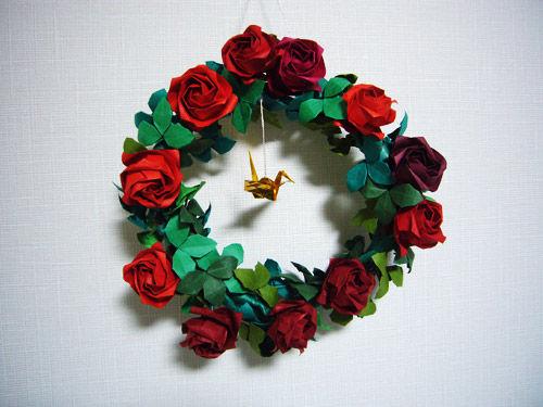 クリスマス 折り紙 折り紙 クリスマスリース : blog.livedoor.jp