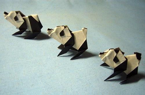 すべての折り紙 パンダ 折り紙 : 折り紙】パンダ来日記念