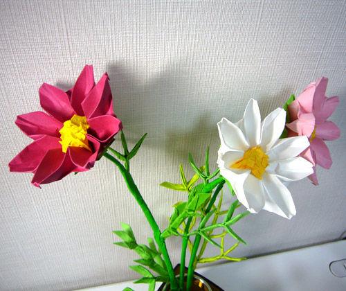 ハート 折り紙 折り紙 花 コスモス : blog.livedoor.jp