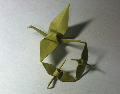 すべての折り紙 折り紙 チューリップ 折り方 : 紙ログ : 【折り紙】連鶴 - 呉竹 ...