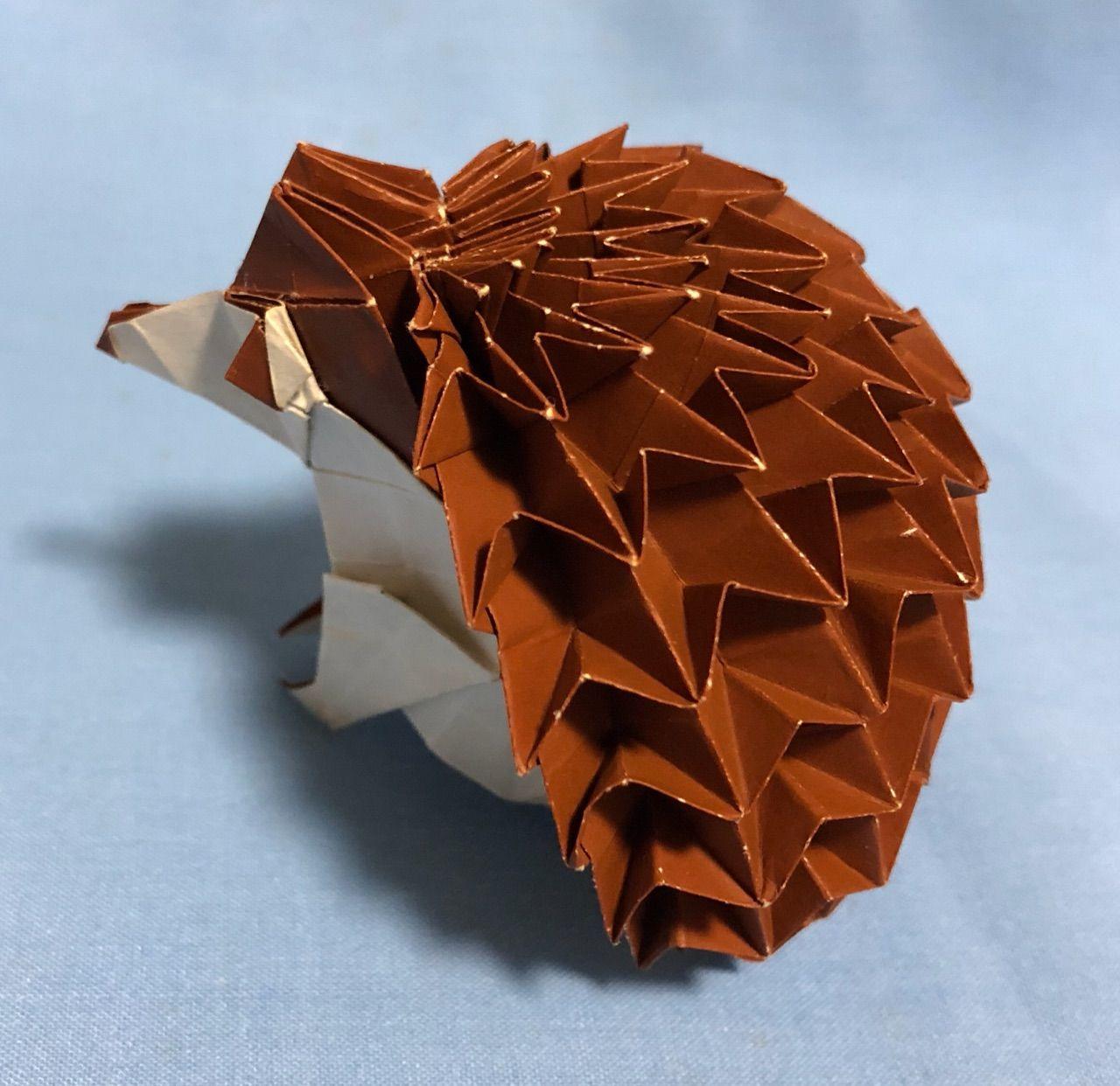折り紙 ハリネズミ