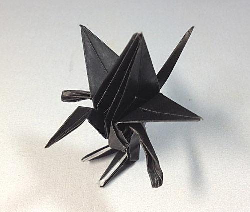 すべての折り紙 折り紙上級者折り方 : 折り紙】折り鶴に手足を ...