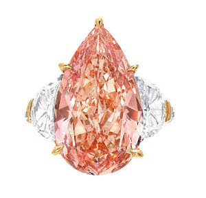 56 10.91cts Fancy Intense Pinkish Orange VVS1