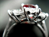 3ct UT Ruby Dia Ring Complete Uper and Lower Bezel