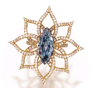 3.18cts MQ  Fancy Vivid Blue Internally Flawless