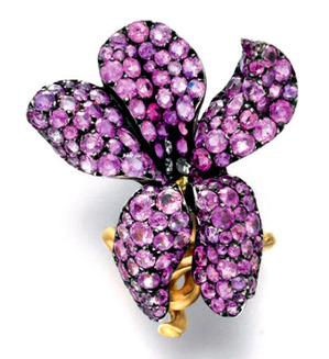 PINK SAPPHIRE VIOLET RING, BY JAR