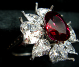 3ct size Ruby Diamond Ring 石載せ 鳥瞰