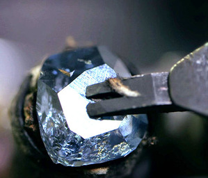 The Blue Moon Diamond Polishing