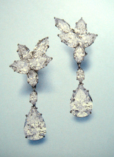 Diamond Pendant Earrings by Harry Winston
