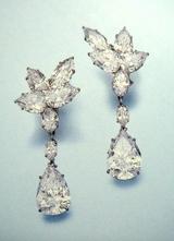 Diamond Pendant Earrings by Harry Winston