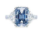 320 Diamond Ring 6.60cts Fancy I. Blue Flawless