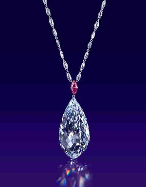 75.36ct Briolette D IF Type�a Pendant Necklace