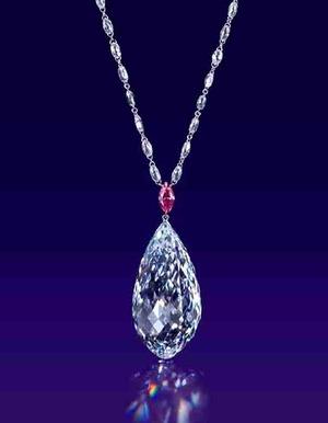 75.36ct Briolette D IF Type�a Pendant Necklace