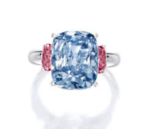 Lot.2851 6.01ct Fancy Vivid Blue VVS2 Ring