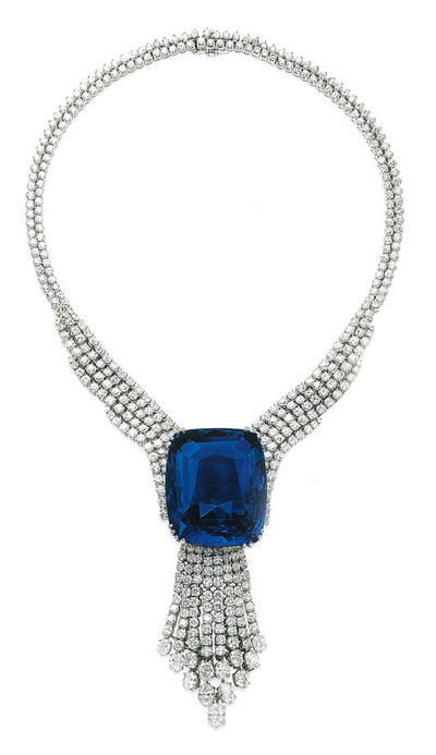 The Blue Belle of Asia 392.52ct Ceylon origin Diamond Necklace