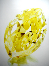 18.13cts Fancy Vivid Yellow VVS2