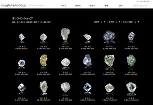 Roughdiamond.jp online shop