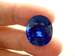 30cts size Burma Sapphire Untreated .on finger