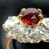 90% Complete 3ct size Ruby Dia Ring side view