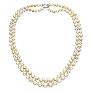 Lot209 TWO-STRAND NATURAL PEARL NECKLACE