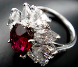 3ct UT Ruby Dia Ring Complete bird's eye view