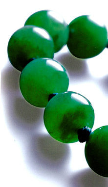 435 Jadeite bead Necklace Close up