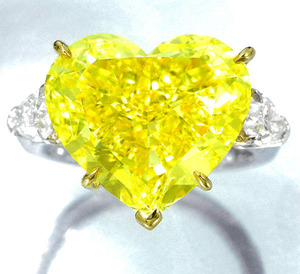 12.16cts Fancy Vivid Yellow IF