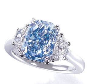 2763 Fancy Intense Blue Diamond Ring