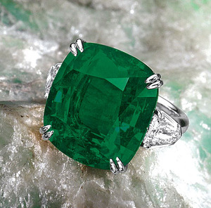 1674 19.54ct CU Colombian Emerald Untreated SSEF