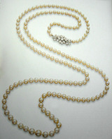 Natural Pearl and Diamond necklace byBoucheron