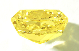 77.77ct Fancy Vivid Yellow VS2