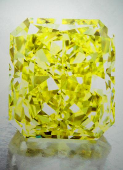 80cts Fancy Vivid Yellow VS1
