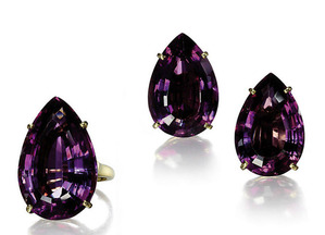 50 Amethyst Ring & Ear Clips by VCA