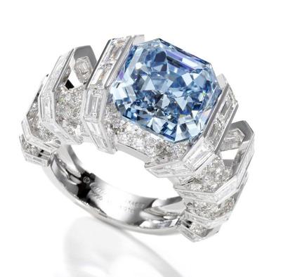 8.01ct Fancy Vivid Blue VVS1