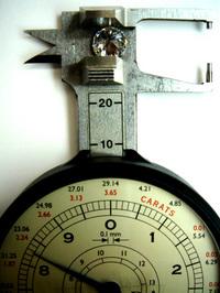 ルースの直径を測る