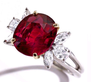6.11cts Burmese Ruby by Tiffany & Co.