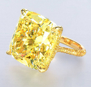 2705 Fnacy Vivid Yellow Diamond Ring