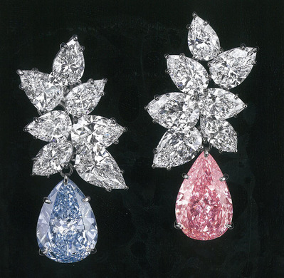 6.95ct Fancy vivid Blue SI2 & 6.79ct Fancy Vivid Pink VS2